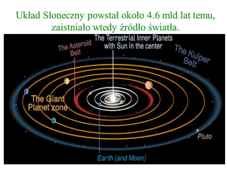 Układ Słoneczny powstał około 4.6 mld lat temu,