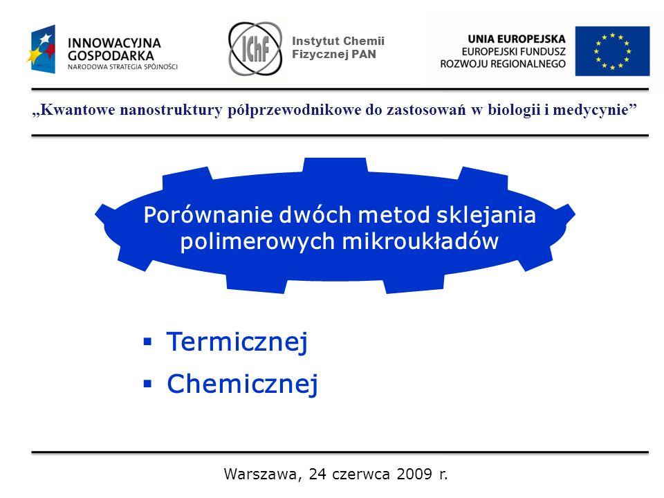 Porównanie dwóch metod sklejania polimerowych mikroukładów