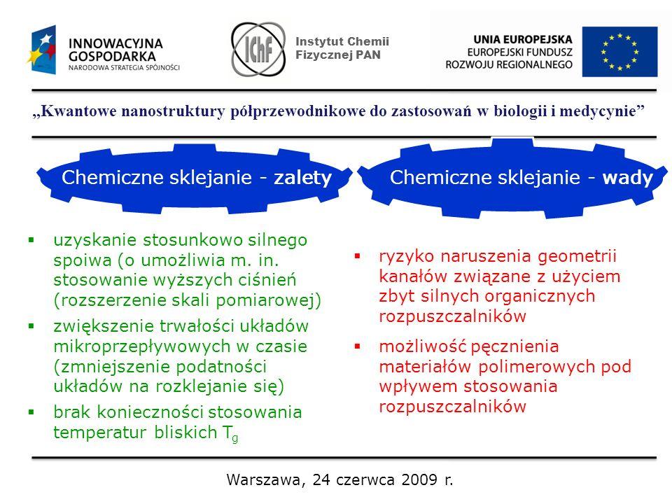 Chemiczne sklejanie - zalety