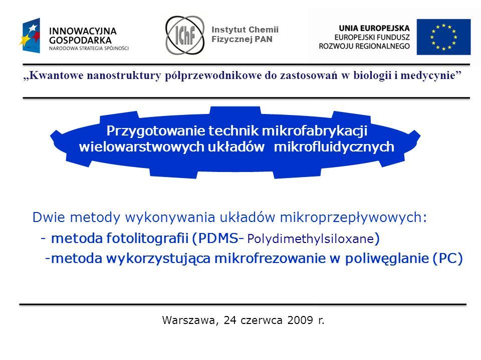 Dwie metody wykonywania układów mikroprzepływowych: