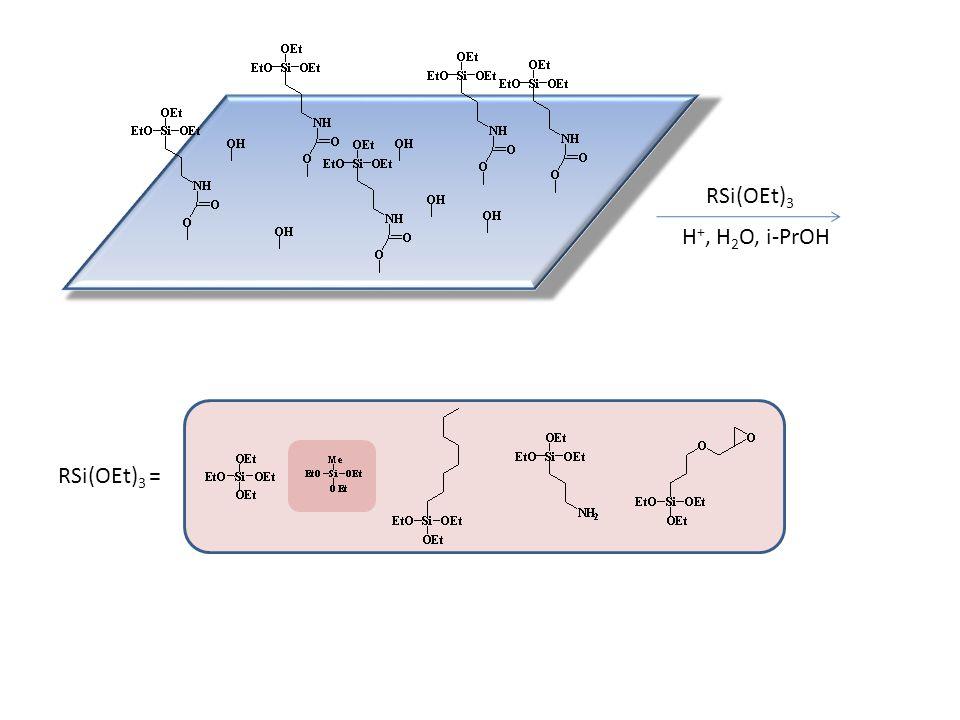 RSi(OEt)3 H+, H2O, i-PrOH RSi(OEt)3 =