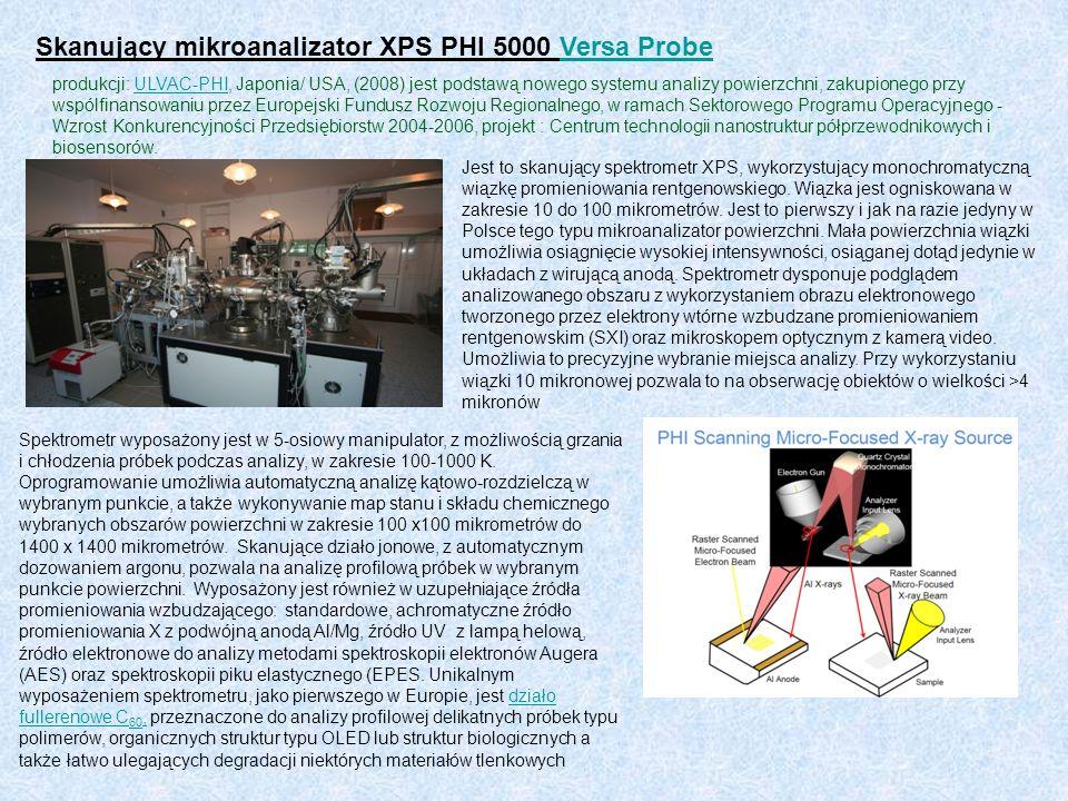 Skanujący mikroanalizator XPS PHI 5000 Versa Probe