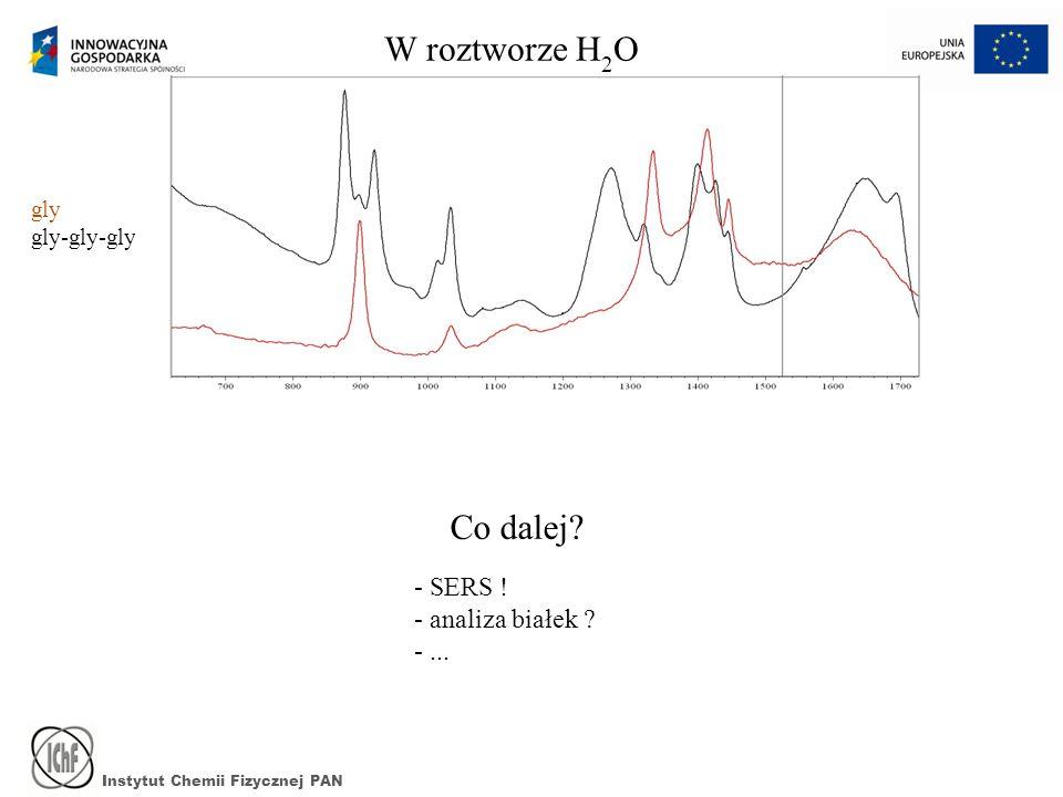 W roztworze H2O Co dalej - SERS ! - analiza białek - ... gly