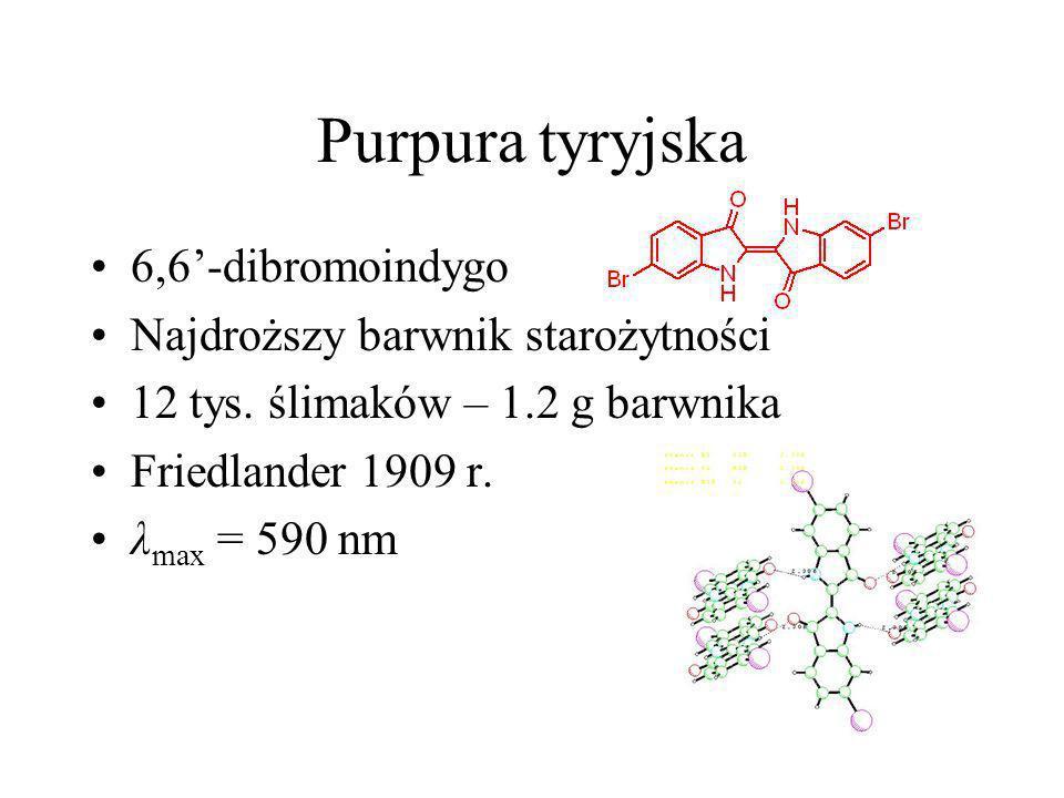 Purpura tyryjska 6,6'-dibromoindygo Najdroższy barwnik starożytności