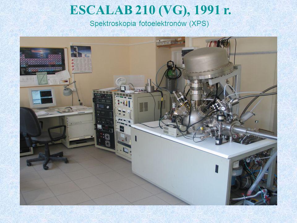 ESCALAB 210 (VG), 1991 r. Spektroskopia fotoelektronów (XPS) t