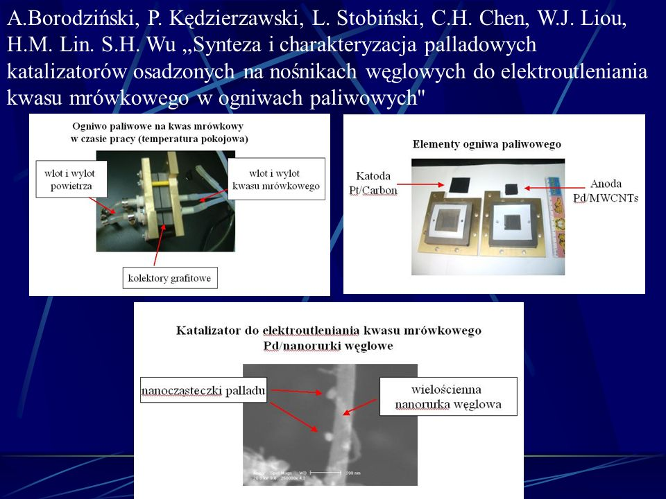 A.Borodziński, P. Kędzierzawski, L. Stobiński, C.H. Chen, W.J. Liou,