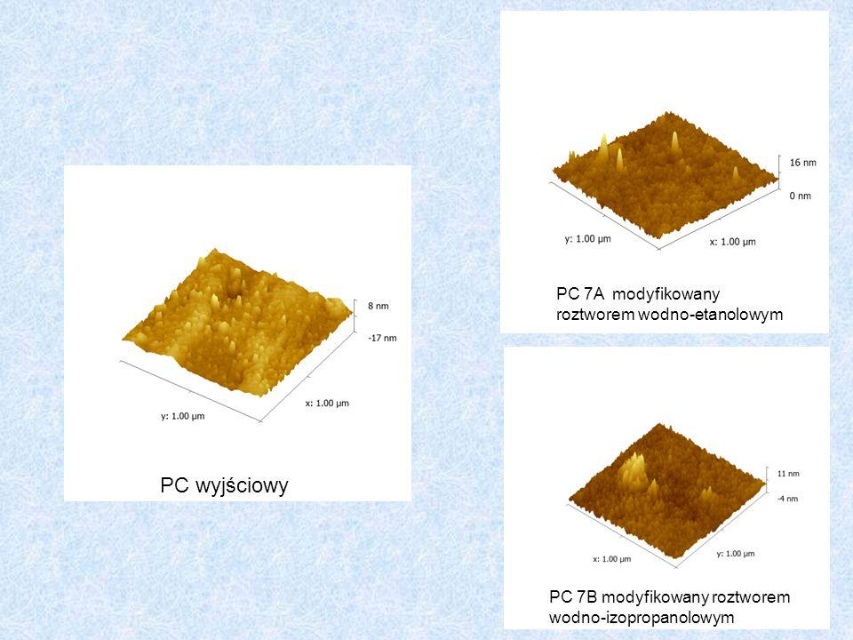 PC wyjściowy PC 7A modyfikowany roztworem wodno-etanolowym