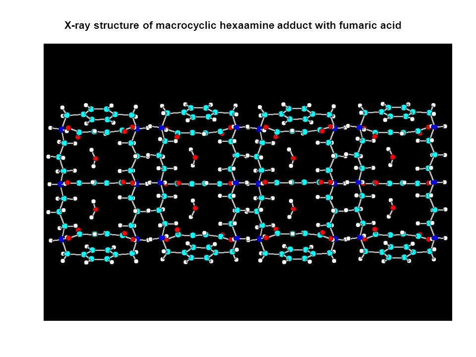 X-ray structure of macrocyclic hexaamine adduct with fumaric acid