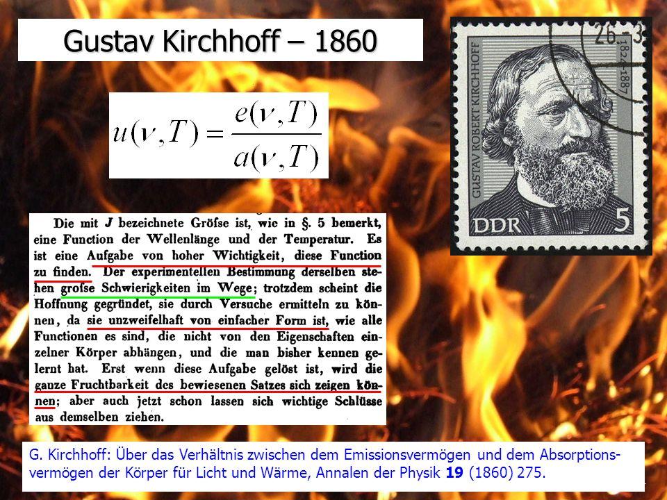 Gustav Kirchhoff – 1860