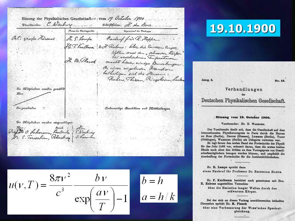 19.10.1900 19.10.1900. Posiedzenie Towarzystwa Fizycznego 19.10.1900: - ogłoszenia komercyjne