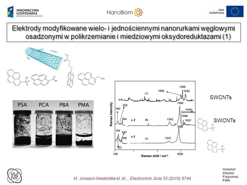 Elektrody modyfikowane wielo- i jednościennymi nanorurkami węglowymi osadzonymi w polikrzemianie i miedziowymi oksydoreduktazami (1)