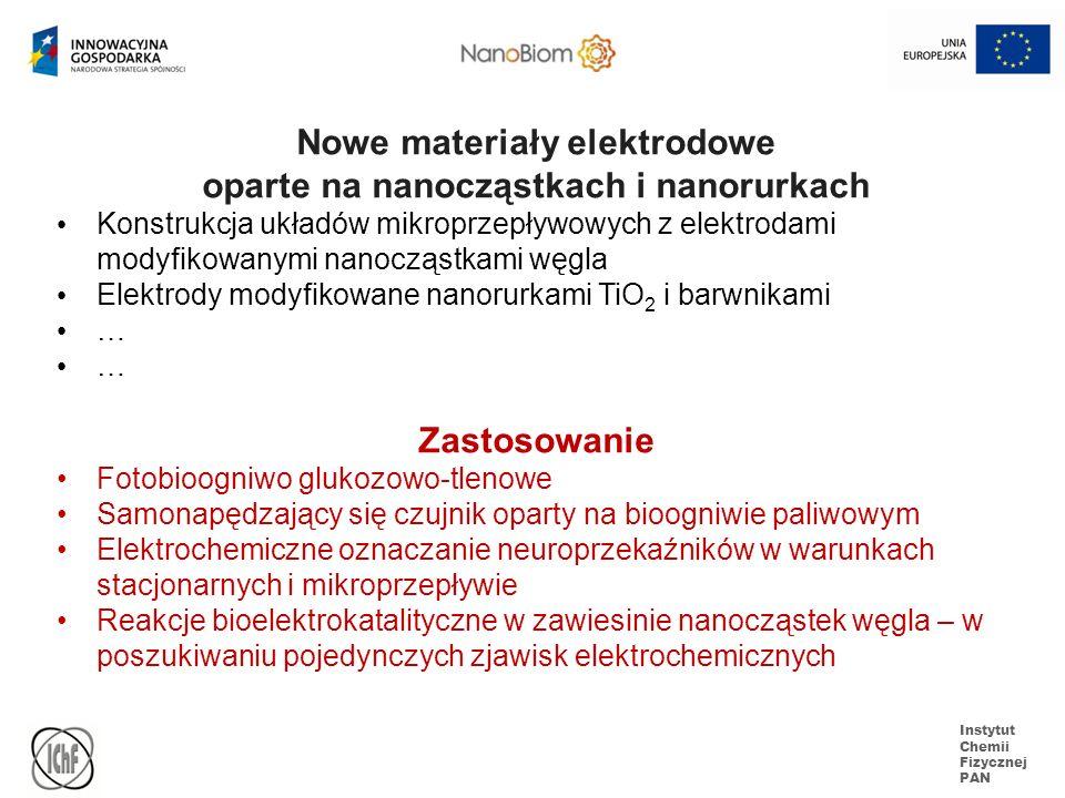 Nowe materiały elektrodowe oparte na nanocząstkach i nanorurkach