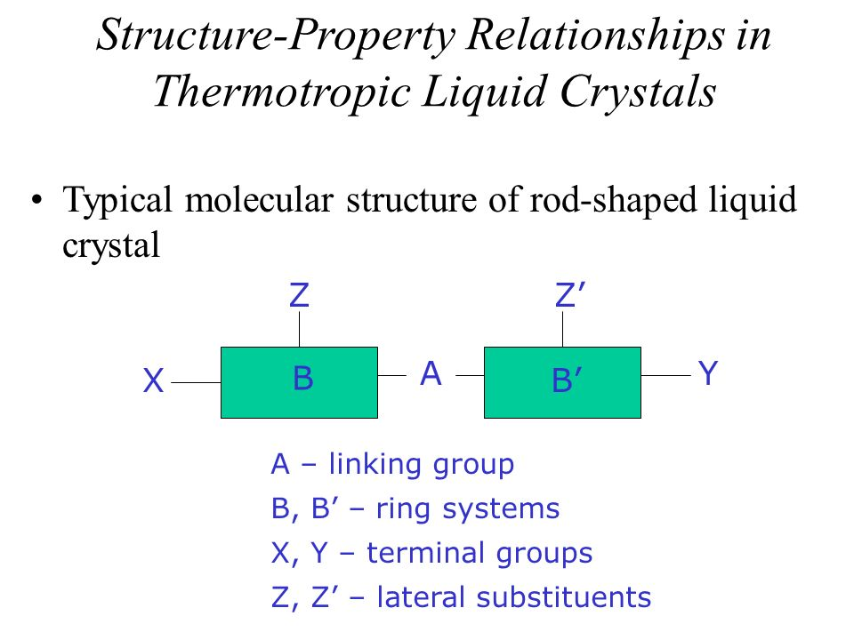 Structure-Property Relationships in Thermotropic Liquid Crystals