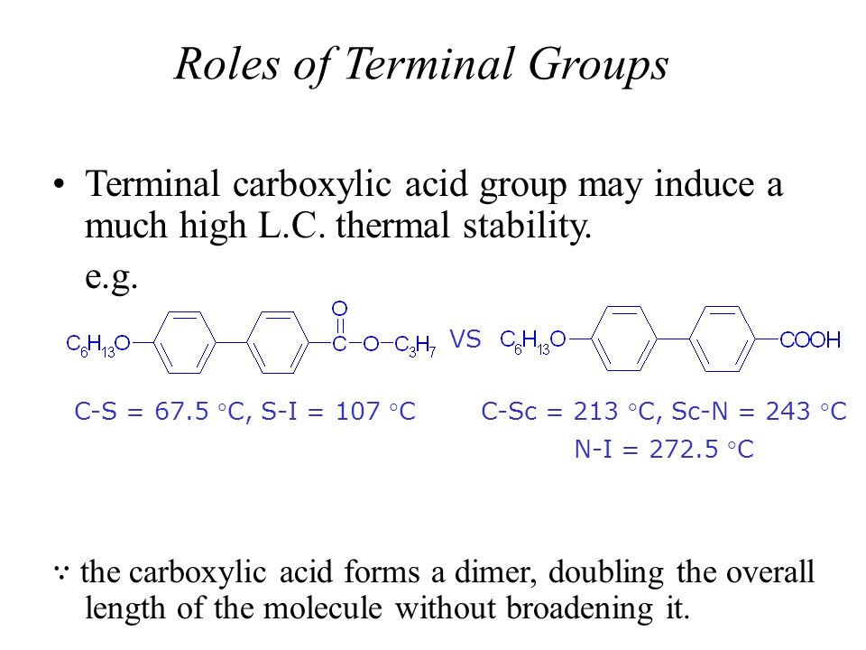 Roles of Terminal Groups