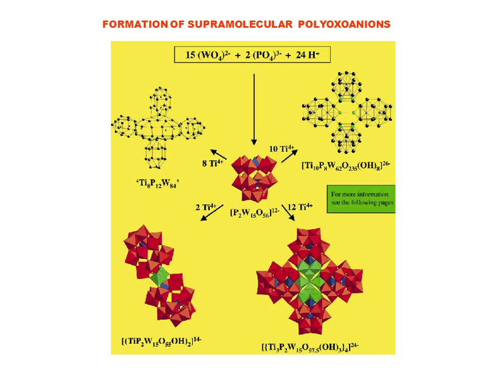 FORMATION OF SUPRAMOLECULAR POLYOXOANIONS