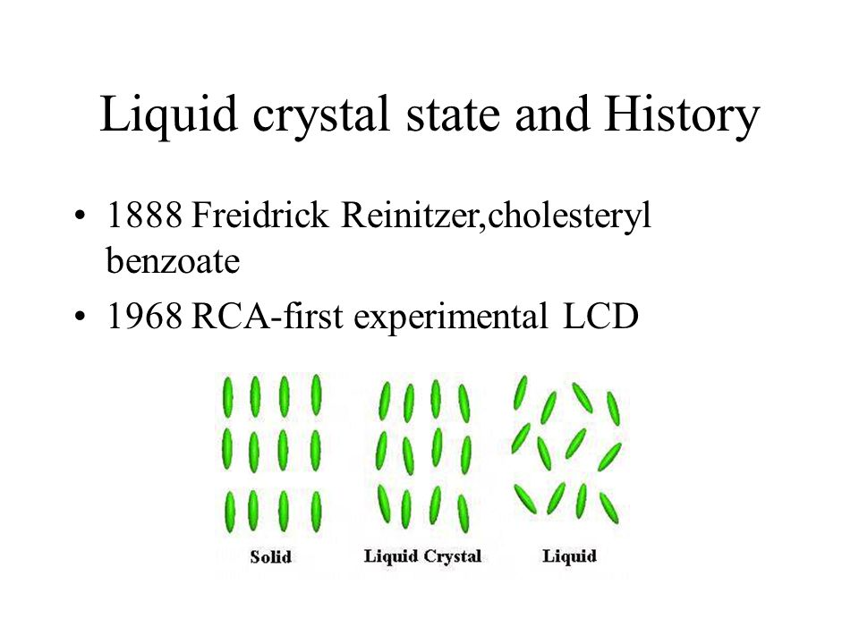 Liquid crystal state and History