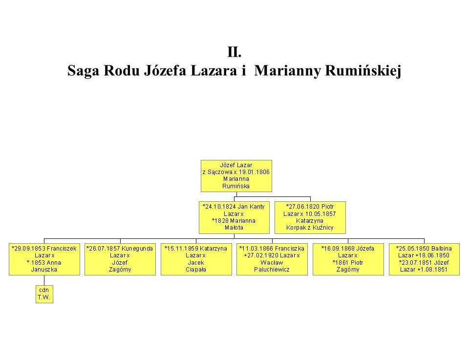 II. Saga Rodu Józefa Lazara i Marianny Rumińskiej