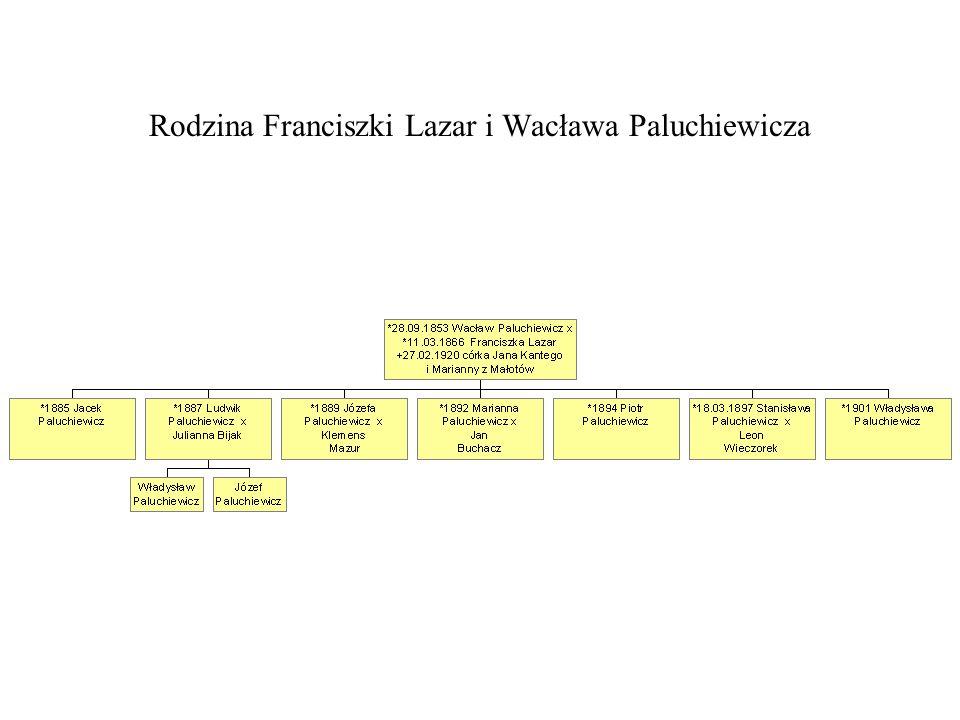 Rodzina Franciszki Lazar i Wacława Paluchiewicza