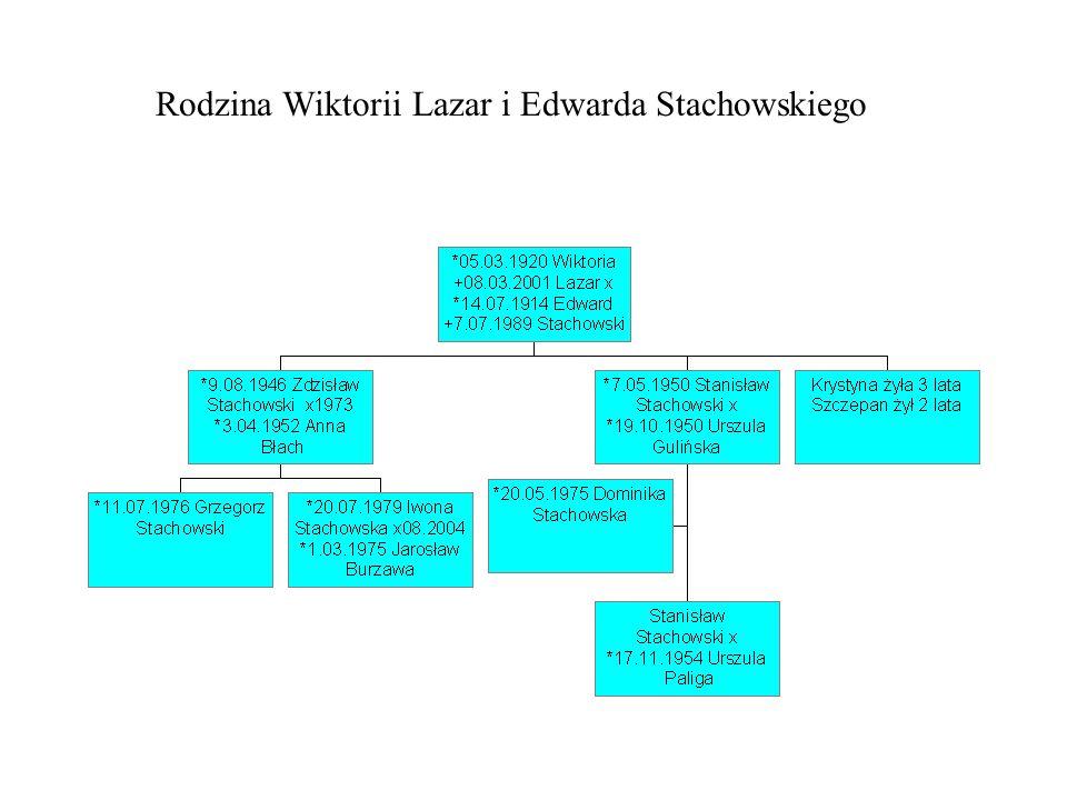 Rodzina Wiktorii Lazar i Edwarda Stachowskiego