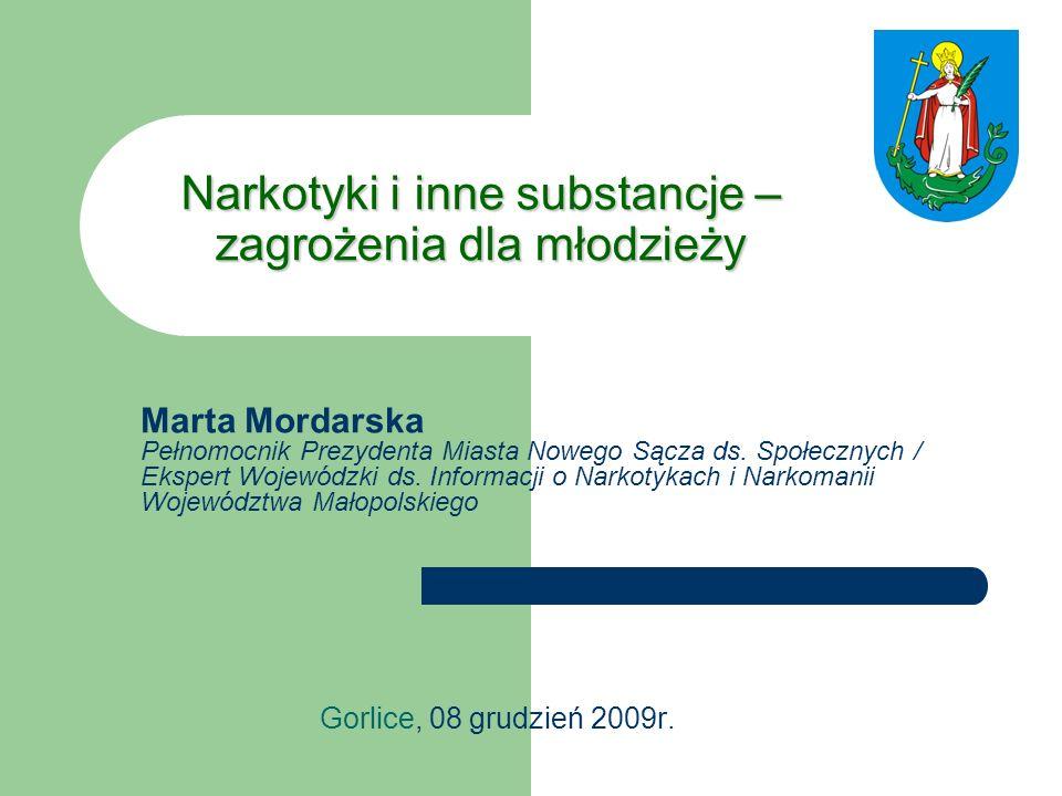 Narkotyki i inne substancje – zagrożenia dla młodzieży