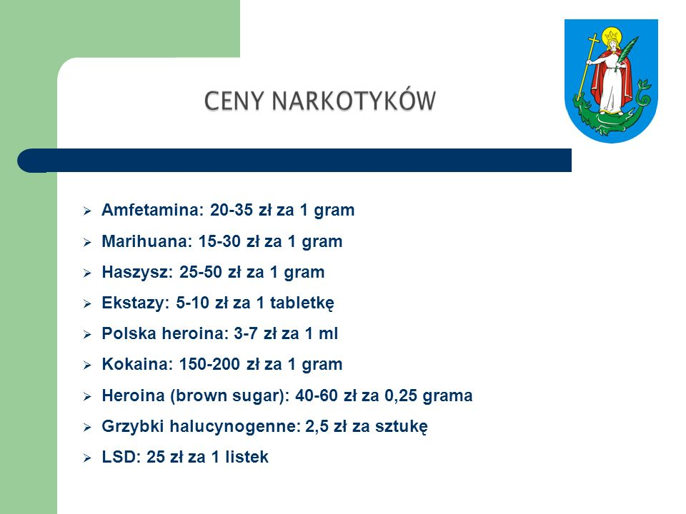 Amfetamina: 20-35 zł za 1 gram