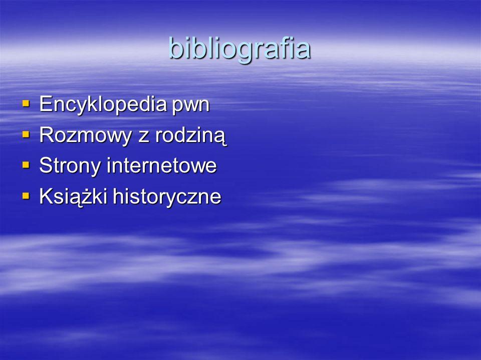 bibliografia Encyklopedia pwn Rozmowy z rodziną Strony internetowe