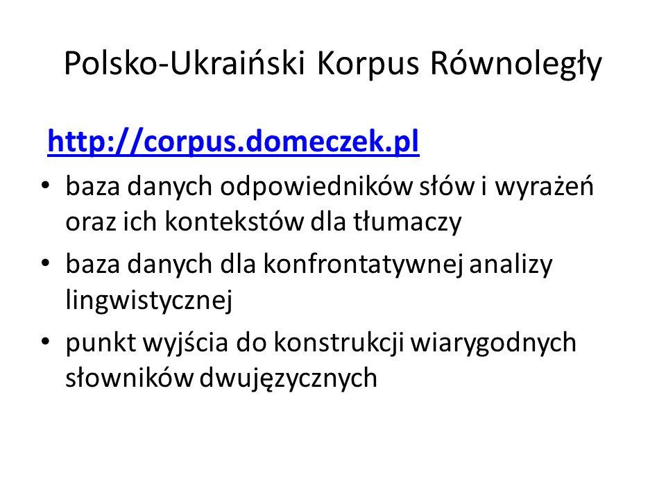 Polsko-Ukraiński Korpus Równoległy