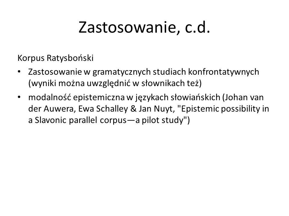 Zastosowanie, c.d. Korpus Ratysboński