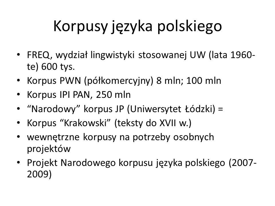 Korpusy języka polskiego