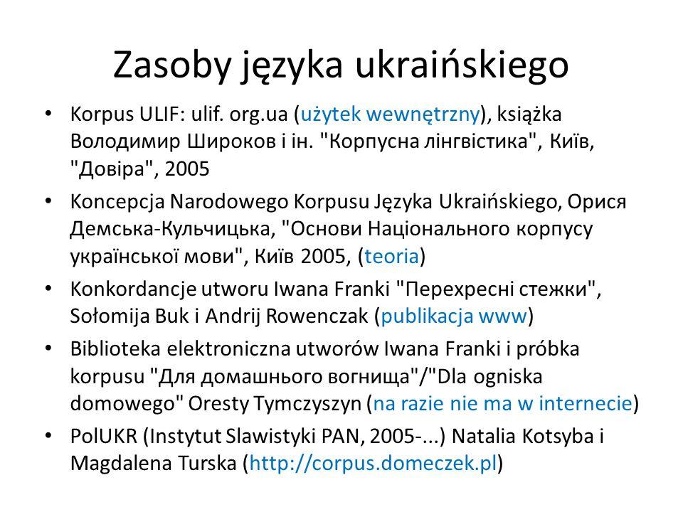 Zasoby języka ukraińskiego