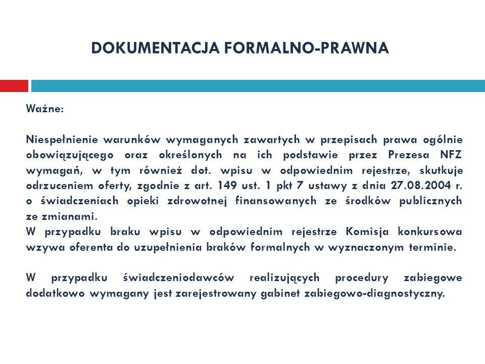 DOKUMENTACJA FORMALNO-PRAWNA