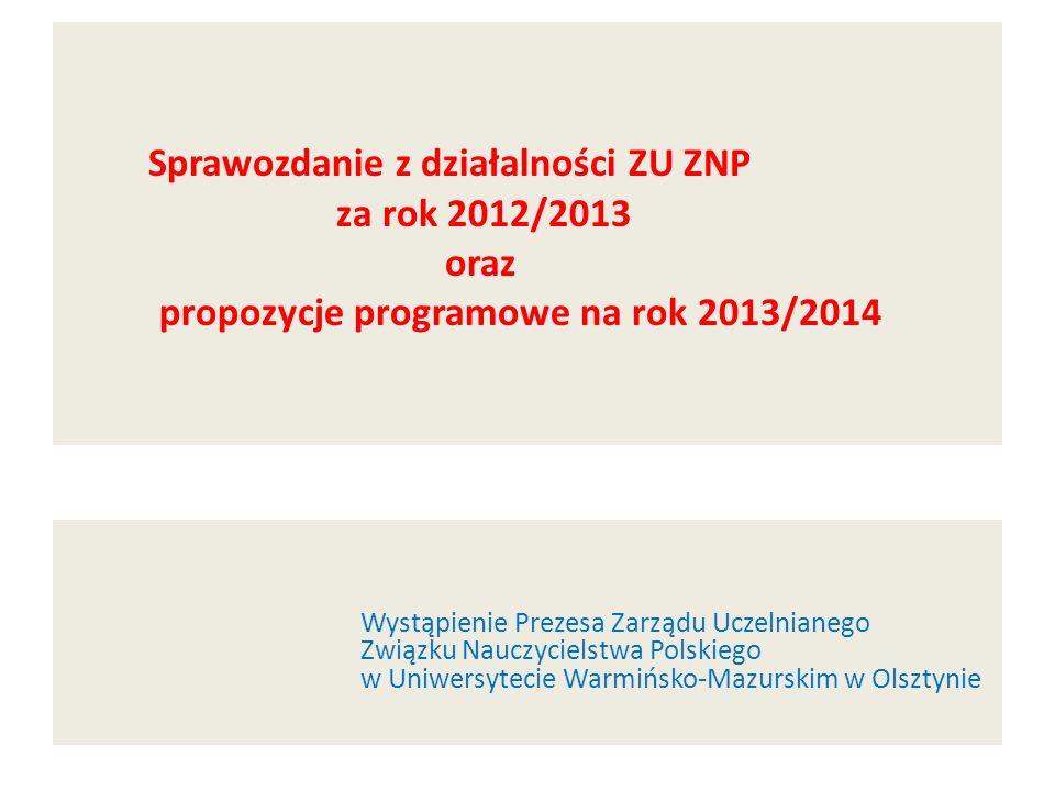 Sprawozdanie z działalności ZU ZNP za rok 2012/2013