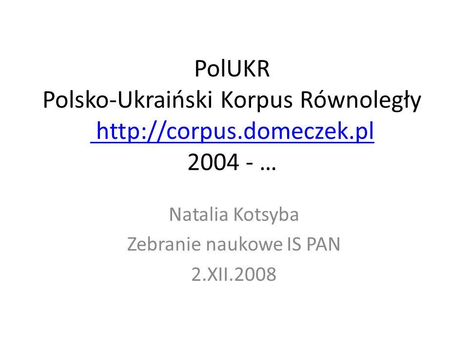 Natalia Kotsyba Zebranie naukowe IS PAN 2.XII.2008