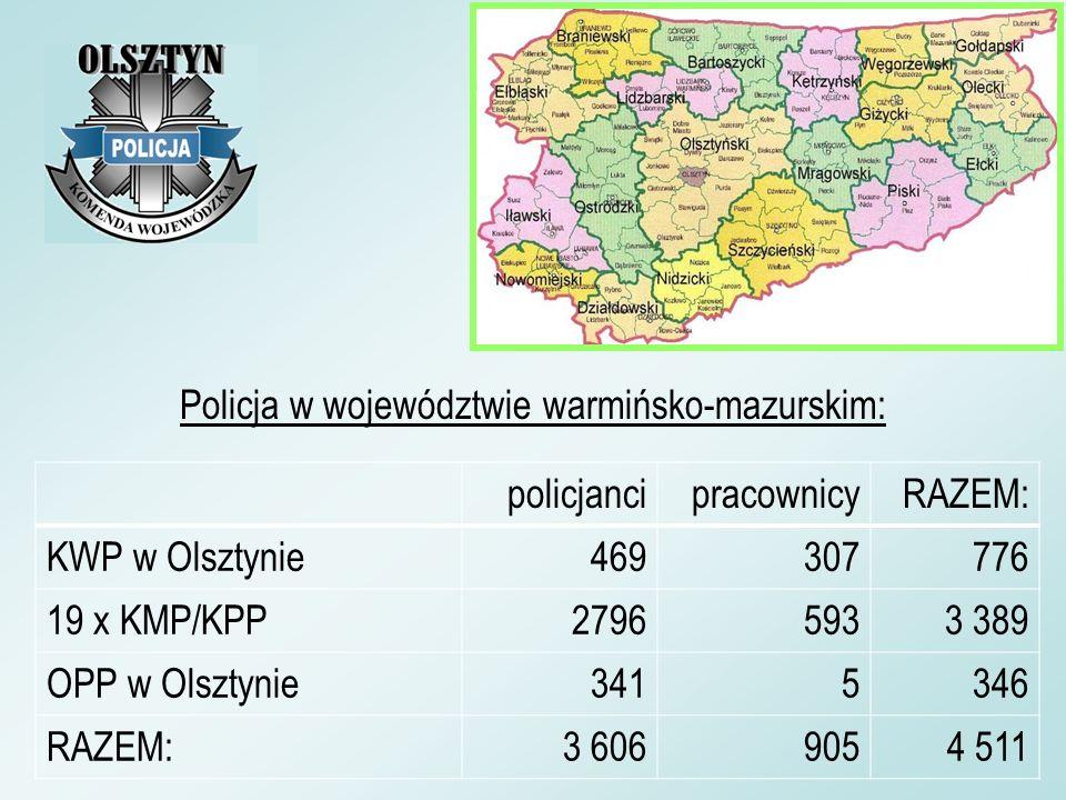 Policja w województwie warmińsko-mazurskim: