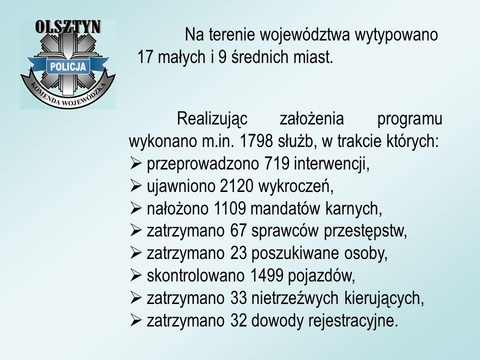 Na terenie województwa wytypowano 17 małych i 9 średnich miast.