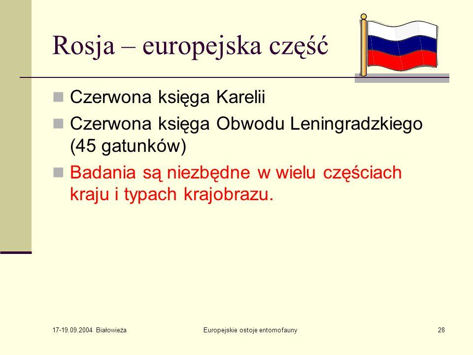 Rosja – europejska część