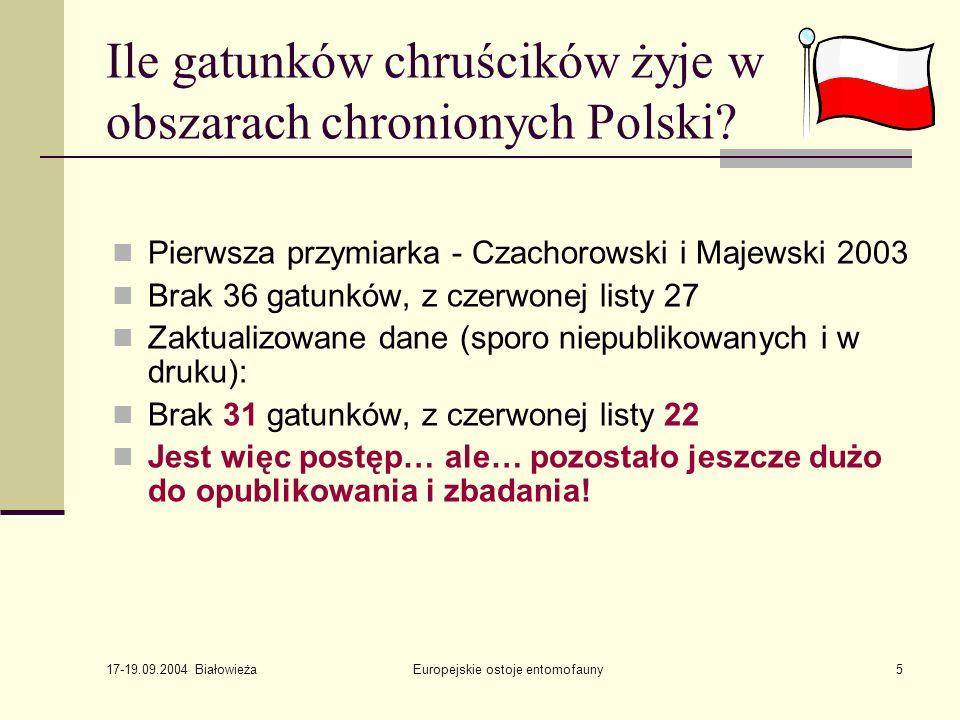 Ile gatunków chruścików żyje w obszarach chronionych Polski