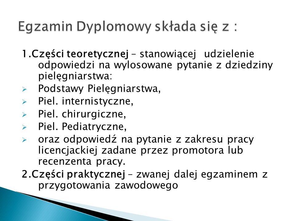 Egzamin Dyplomowy składa się z :