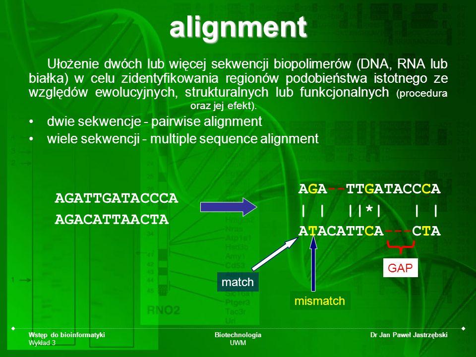 alignment AGA--TTGATACCCA AGATTGATACCCA | | ||*| | | AGACATTAACTA