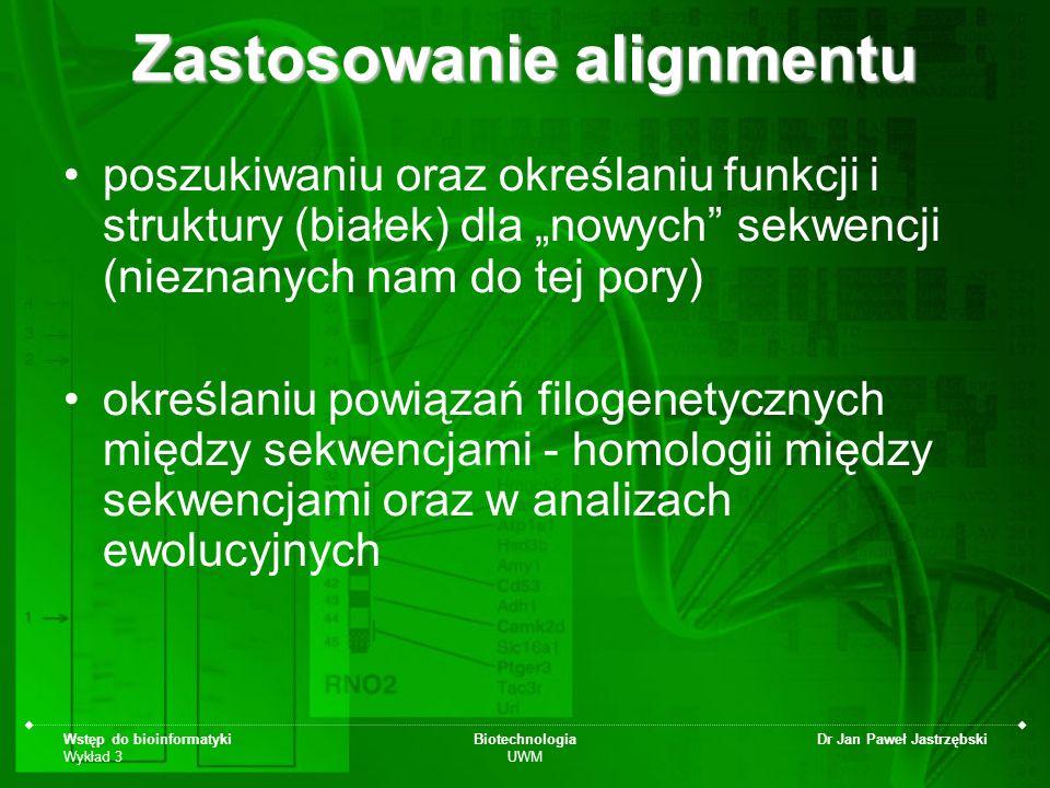 Zastosowanie alignmentu