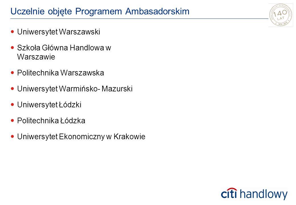 Uczelnie objęte Programem Ambasadorskim