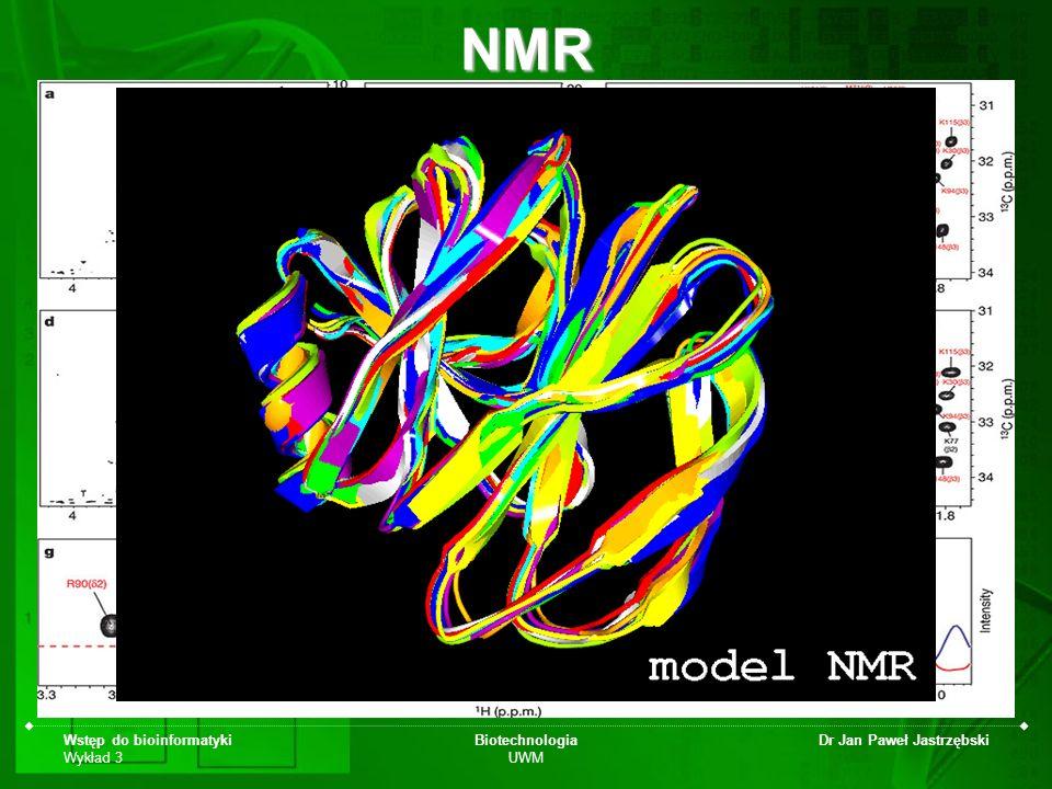 NMR Wstęp do bioinformatyki Wykład 3 Biotechnologia UWM