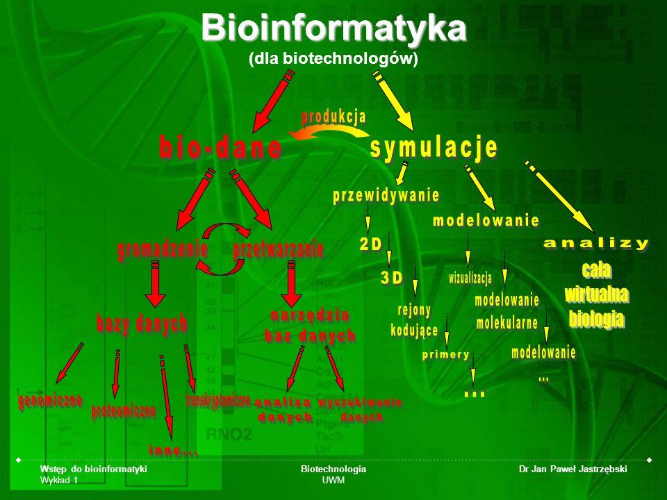 Bioinformatyka (dla biotechnologów)
