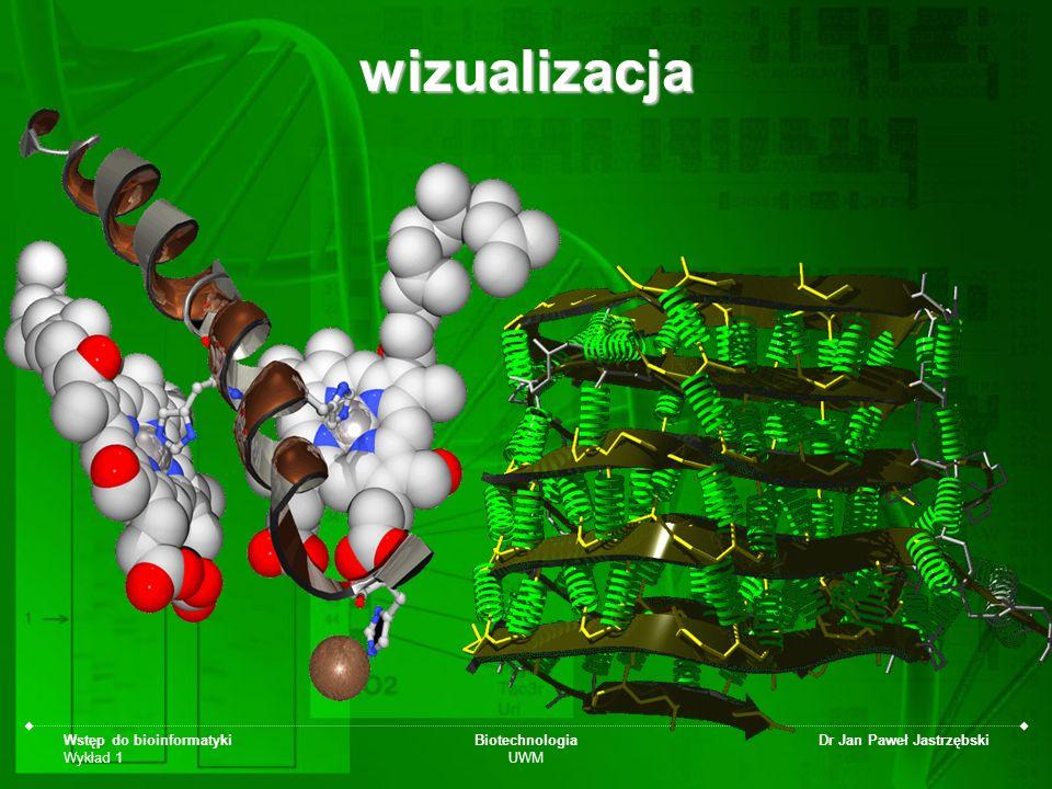 wizualizacja Wstęp do bioinformatyki Wykład 1 Biotechnologia UWM