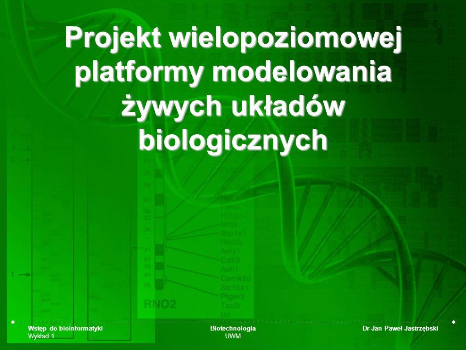 Projekt wielopoziomowej platformy modelowania żywych układów biologicznych