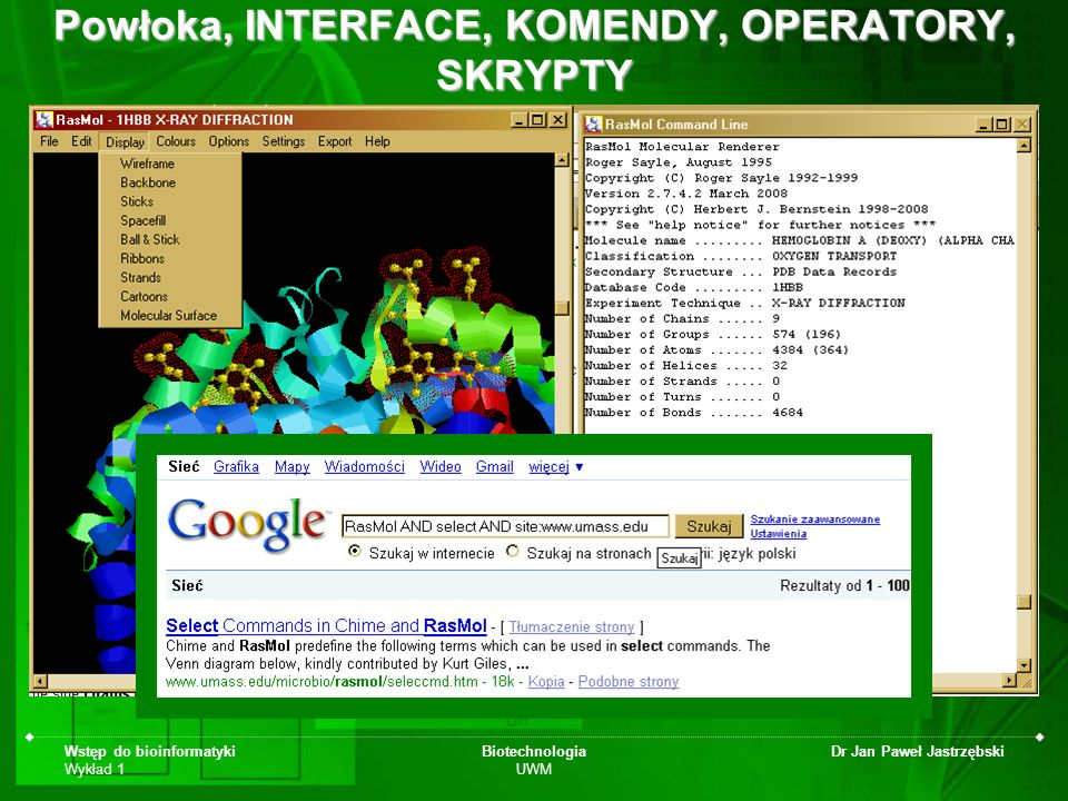 Powłoka, INTERFACE, KOMENDY, OPERATORY, SKRYPTY
