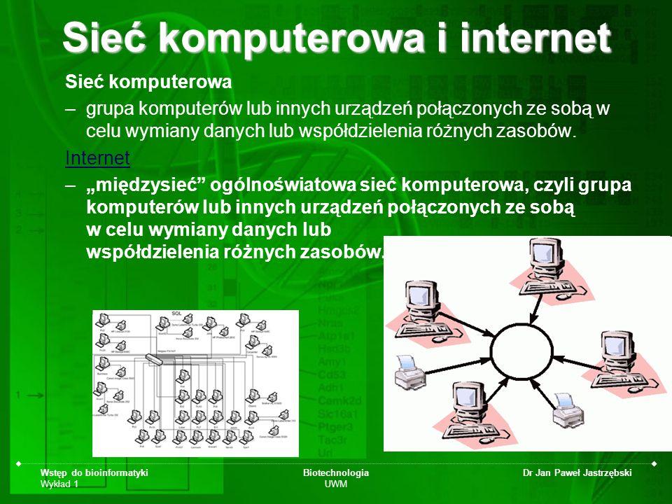 Sieć komputerowa i internet