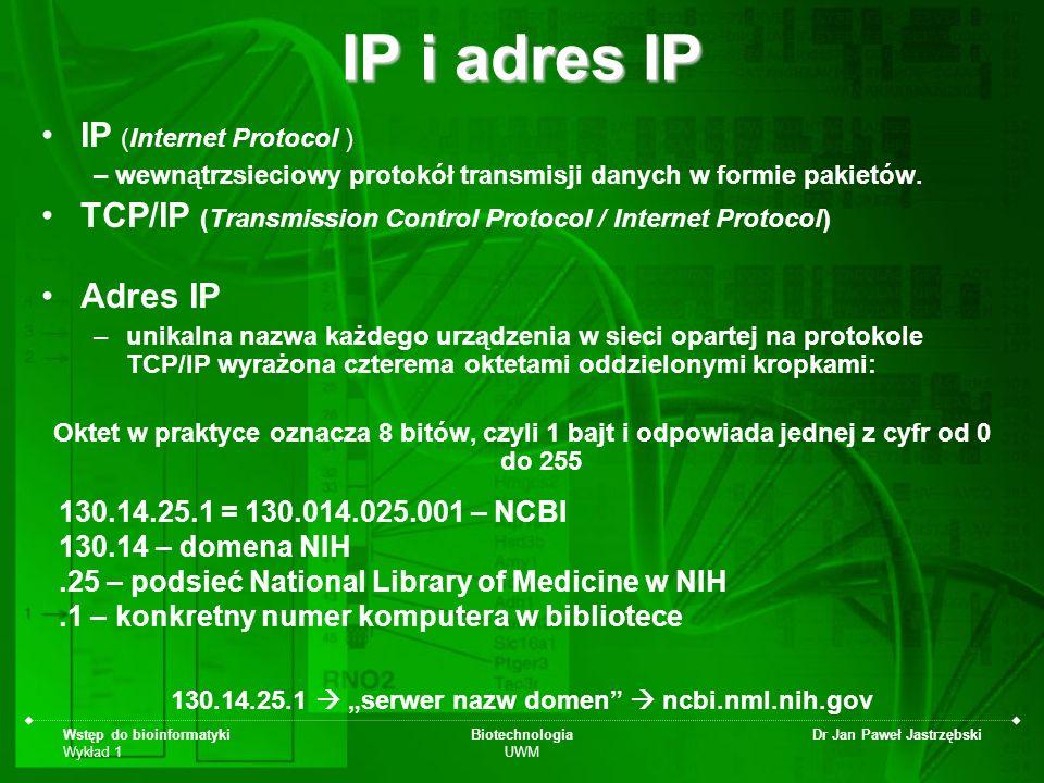 """130.14.25.1  """"serwer nazw domen  ncbi.nml.nih.gov"""