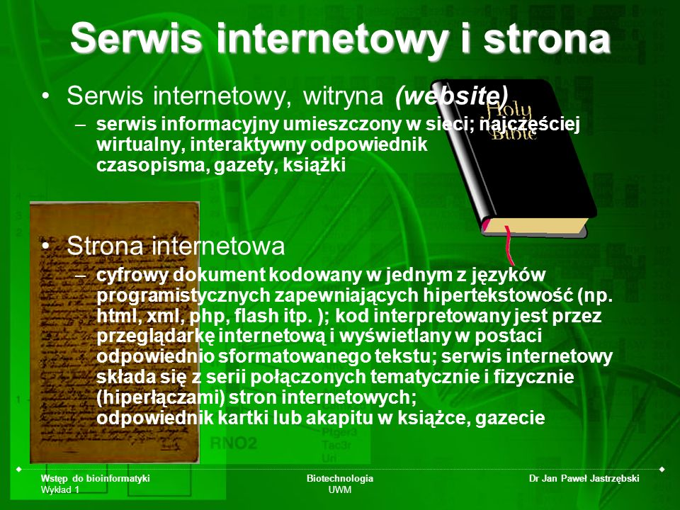Serwis internetowy i strona