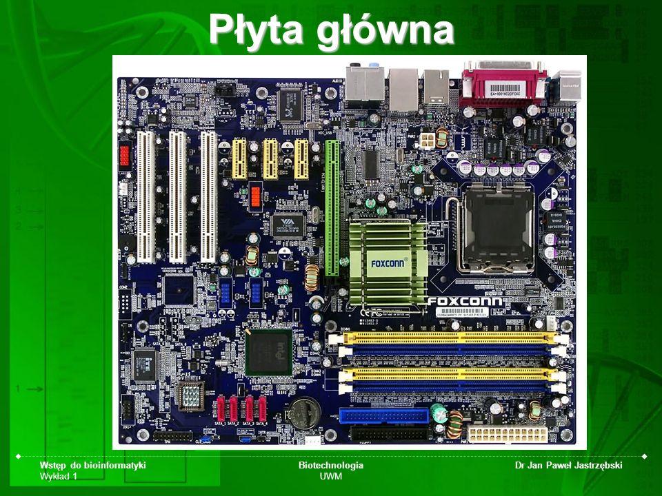 Płyta główna Wstęp do bioinformatyki Wykład 1 Biotechnologia UWM